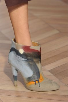 I wonder if any shoes of mine would look this stellar with a little paint on them? by Martin Margiela
