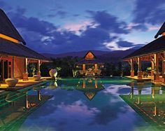 Exotic Pool by Bensley Design Studios in Chiang Mai, Thailand