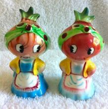 Vintage Anthropomorphic PY Miyao Onion Salt and Pepper Shakers Veggie