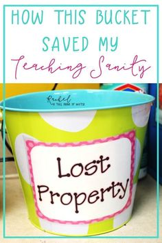 A quick and easy tip for keeping your student's area and classroom clean and not losing your sanity in the process!