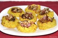 Nidi di patate con funghi e pancetta