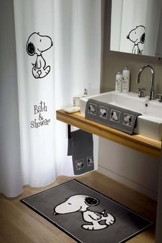 Michael Rodent's Bed , Bath & Kitchen Snoopy Shower Curtains and