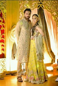 Mehndi groom and bride