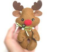 Reindeer Christmas PDF Ornament van LittleThingsToShare op Etsy