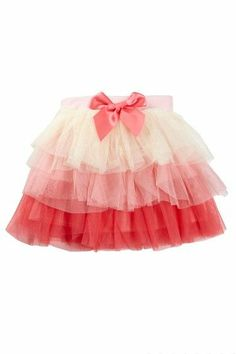 Pretty Ruffled Tulle Skirt for Girls.