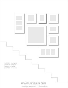 staircase photo gallery wall idea