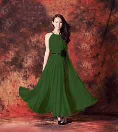 Grass+Green+Long+Evening+Wedding+Party+Dress+by+LYDRESS+on+Etsy,+$55.00