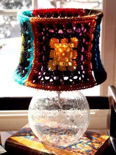 yarnaway: a crochet scrapbook - lamp shade inspiration