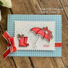 Stampin' Up! Under My Umbrella Hello Card – Stamp It Up with Jaimie