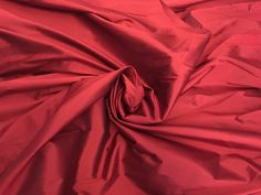 """Designer Red Stretch Taffeta, a superior weight and luster, 58"""" wide, sold by the Yard by PromenadeFabrics on Etsy"""