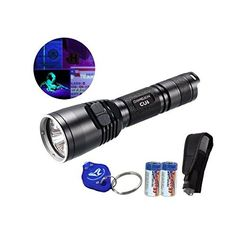 Bundle: Nitecore CU6 High Power 3000mW 365nm Ultraviolet UV-A 440 Lumens White Dual Beam Professional Inspection LED Flashlight, 2xCR123A Batteries and Lumentac Keychain Light ** You can get additional details at the image link.