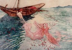 The Origin of Rubies  Folk Tales of Bengal, 1912.  by Reverend Lal Behari Day.  illustrated by Warwick Goble.