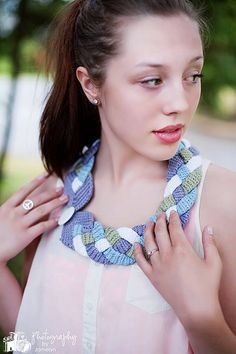 PDF Crochet Pattern Four Braid Statement Necklace by Mamta on Etsy