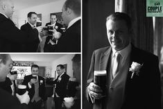 "The nerves were getting the better of them, a pint of ""The Black Stuff"" sorted everything out. A real Irish wedding by Couple Photography Irish Wedding, Couple Photography, Weddings, Couples, House, Fictional Characters, Black, Home, Black People"