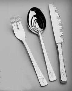 Infinity silverware set - mathematics-inspired silverware set.