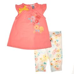 ღ¸.•❤ ƁҽႦҽ ღ .¸¸.•*¨*• Floral Tunic & Leggings Set (3-12m)
