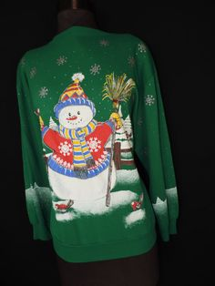 by cricketcapers Ugly Christmas Sweater, Being Ugly, Sweatshirts, How To Wear, Handmade, Stuff To Buy, Vintage, Fashion, Moda