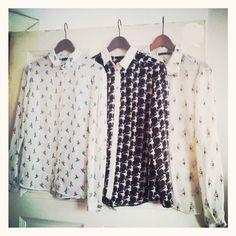 #shirt #birds #koszula #love #vintagestyle #vintage #secondhand #niemodnepolkic.com