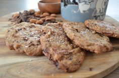 Lakris og sjokolade cookies med havsalt