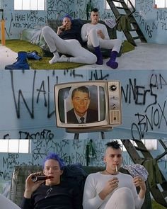Stevo And Heroine Bob. SLC Punk <3...this was my fav movie in high school! GREAT. Movie!!!!