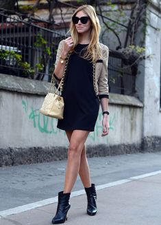 black-dress-with-bomber-jacket-and-boots