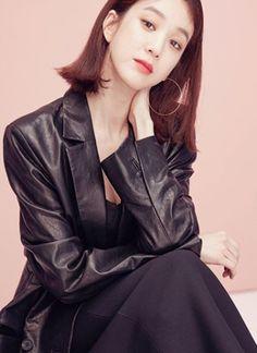 Jung Ryeo Won, Style Me, Leather Jacket, Actresses, Jackets, Beauty, Fashion, Studded Leather Jacket, Female Actresses