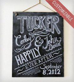 @Jessica Hartnett should get this :: Custom Wedding Chalkboard Sign