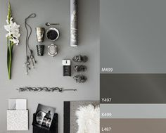 color trend by Tikkurila Grey Wall Color, Grey Paint Colors, Wall Colors, Colour Schemes, Color Trends, Interior Design Inspiration, Color Inspiration, Palette Wall, Mid Century Modern Lighting