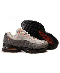 super popular e668d 18408 Mens Nike Air Max 95 Grey Black Orange Trainer Air Max 95 Grey, Air Max