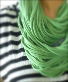 tshirt scarf - so simple! need 2 XL tshirts.