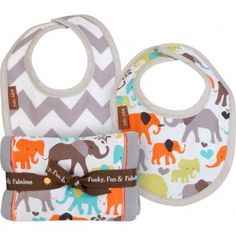 Gift set includes reversible bib with gray and white chevron print on one side… Baby Jars, Eco Kids, Little Giraffe, Burp Cloth Set, Elephant Love, Baby Store, Mom And Baby, Baby Boy, Future Baby