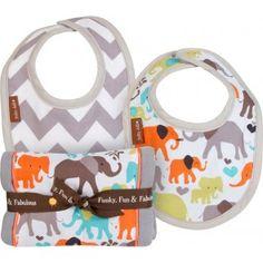 Baby JaR - Burp 'N Drool - Elephant Love