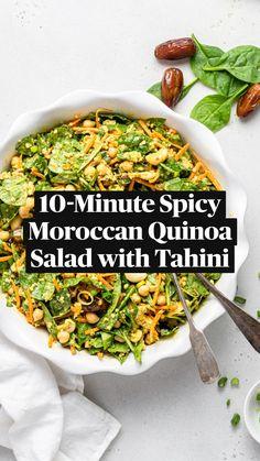 Quinoa Salad Recipes, Healthy Salad Recipes, Veggie Recipes, Diet Recipes, Vegan Bowl Recipes, Vegetarian Salad Recipes, Cooking Recipes, Soup And Salad, Salad Bowls
