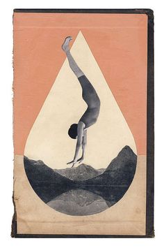 hollie chastain, Crater Lake, collage on book cover.