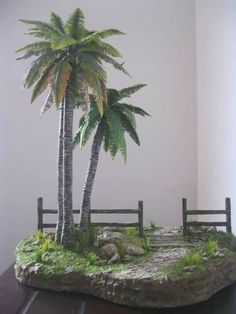 Tropical for my Fairy Garden Christmas Crib Ideas, Christmas Nativity, Christmas Crafts, Christmas Decorations, Miniature Plants, Miniature Houses, Model Tree, Photography Themes, My Fairy Garden