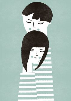 Discover this print the couple blanca gomez with lili& : online s Illustration Design Graphique, Art Et Illustration, Inspiration Art, Grafik Design, Art Design, Oeuvre D'art, Fine Art Paper, Bunt, Illustrations Posters