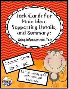 how to teach main idea to 3rd graders