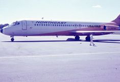 35mm Slides Northeast Airlines Airplane 1970 DC 8