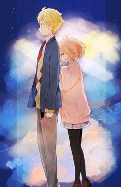 Beyond the Boundary / Kyoukai no Kanata (境界の彼方) Kyoani Anime, Otaku, Mirai Kuriyama, Animé Fan Art, Beyond The Boundary, Kyoto Animation, Film D'animation, Image Manga, Cute Anime Couples