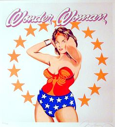 Wonder Woman by Mel Ramos                          ---color lithograph, 1981