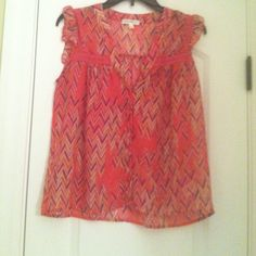 Sheer blouse Blouse is in good condition .  Only wore it once. Juniors medium belk Tops Button Down Shirts