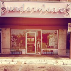 Underwear - lingerie & swimsuit boutique off of South Lamar. (and there's a great nail salon next door, so grab your gal pals!)