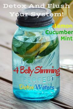Belly Slimming Detox Water -- Lately I have really been getting into these body cleanse drinks. A friend suggested lemon mint cucumber water and I was hooked! I just feel reinvigorated after a 2 week organic detox cleanse. Not to mention these things do wonders for fat burning.