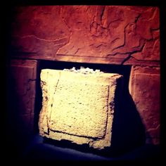 Portion of the Western Wall at the Dead Sea Scrolls exhibition