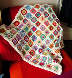 Ravelry: Summer Garden Granny Square by Lucy of Attic24