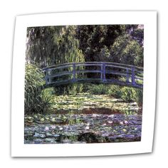 Bridge at Sea Rose Pond by Claude Monet Painting Print on Canvas