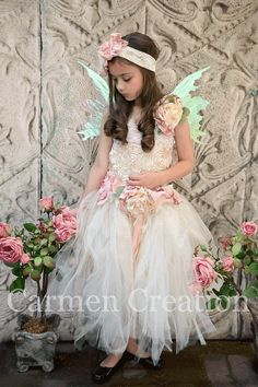 Fairy Flower Girl Dres - Fairy Dress - Fairy Dress - Fairy Dress - Vintage Fairy…