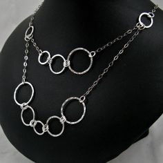 Statement Necklace Fused Fine Silver by adorned7 on Etsy, $68.00