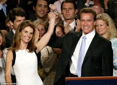 Former First couple: Politics was nothing new for Maria, who's a member of the Kennedy clan, and she joined her husband on the campaign trail that ended with him being elected Governor of California in 2003