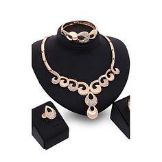 91b0cb78d8bd Γυναικεία Κρυστάλλινο Ρετρό Κοσμήματα Σετ Αχλάδι Πολυτέλεια